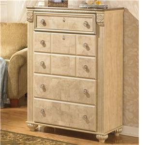Ashley Signature Design Saveaha Five Drawer Chest