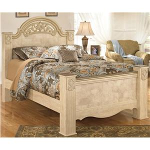 Signature Design by Ashley Saveaha Queen Poster Bed