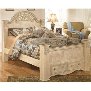 Signature Design by Ashley Saveaha Queen Poster Storage Bed
