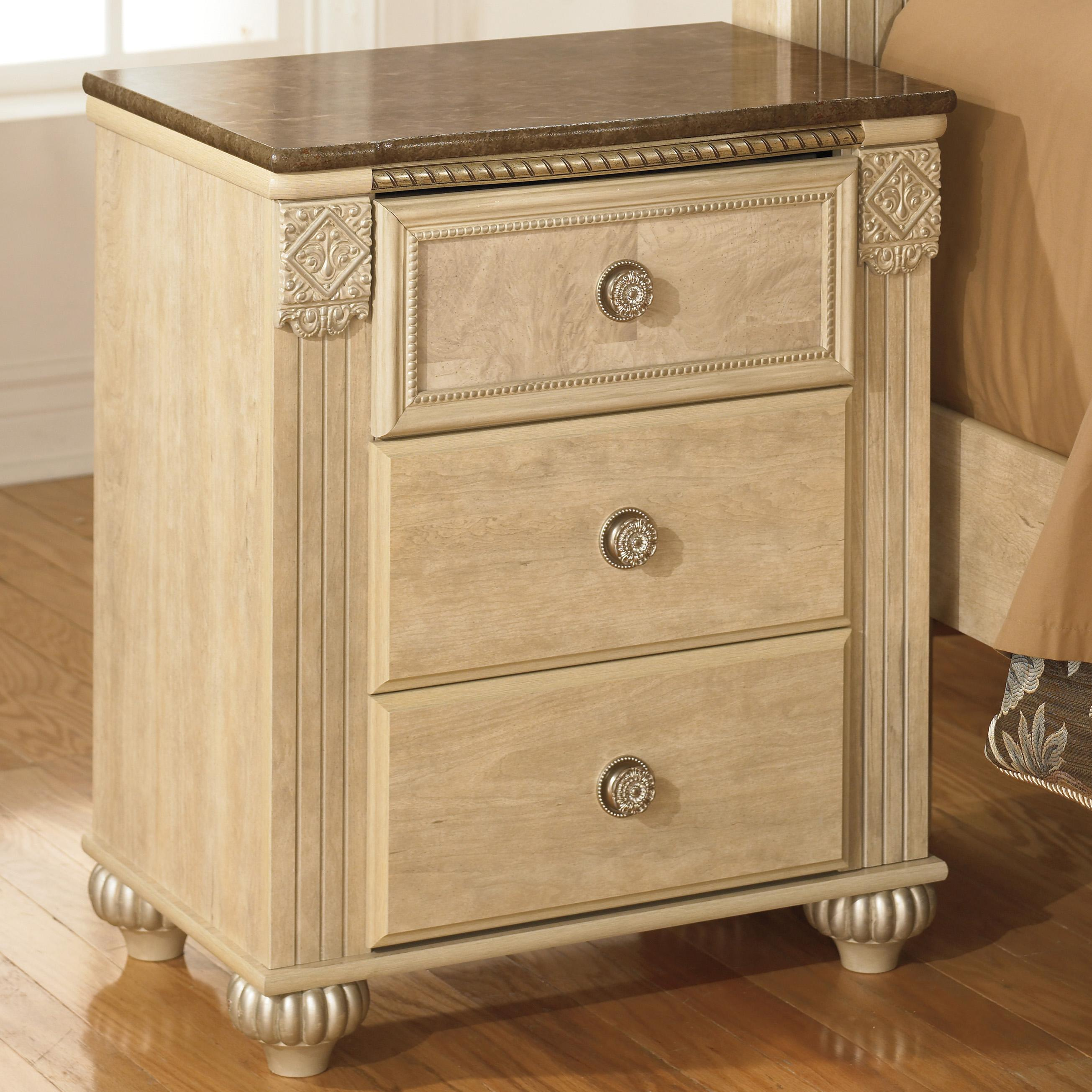 Signature Design by Ashley Saveaha Three Drawer Night Stand - Item Number: B346-90