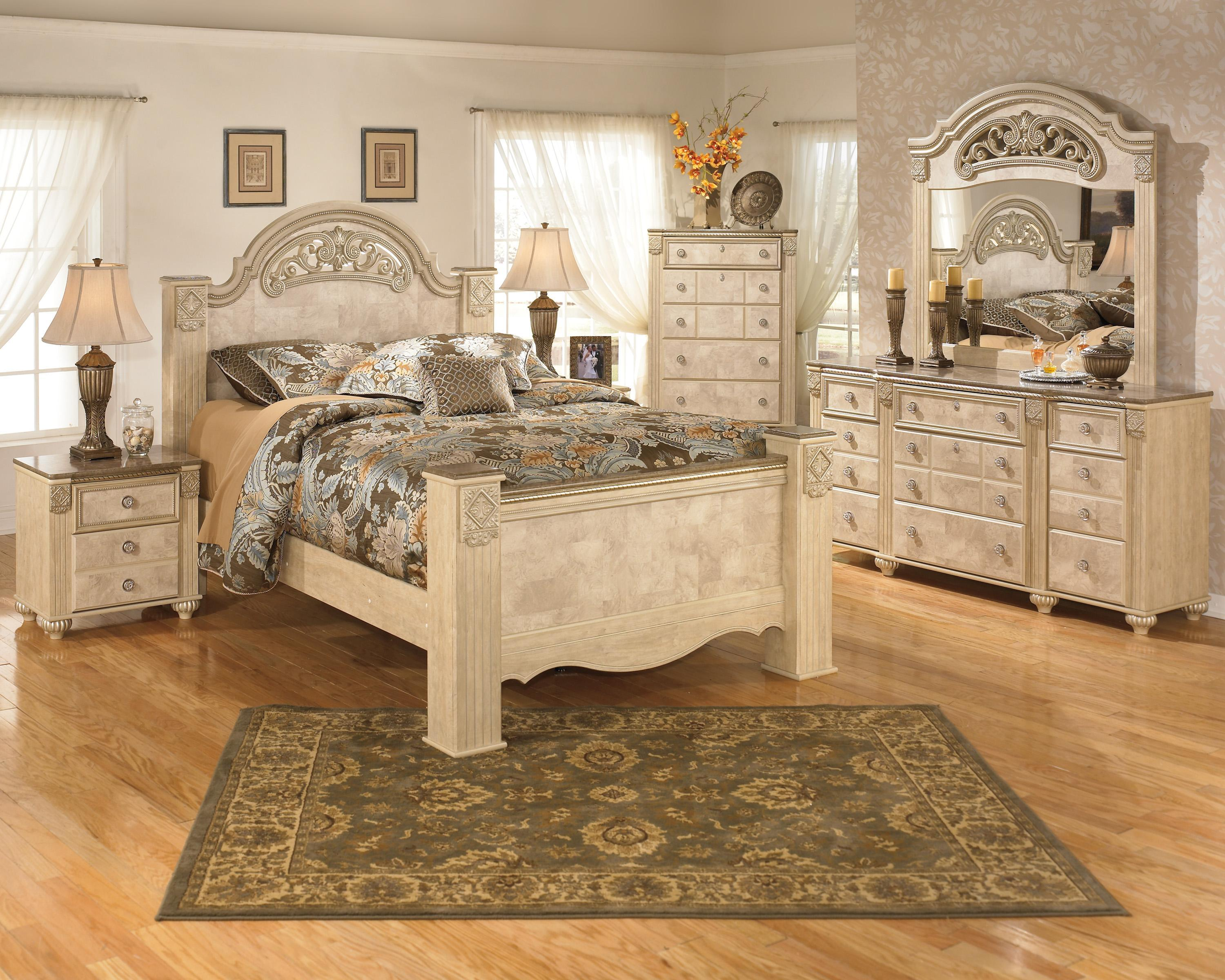 Signature Design by Ashley Saveaha Queen Group - Item Number: Queen Set 6 PC
