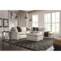 Signature Design by Ashley Savesto 6 Piece Sectional - Item Number: 3110264+2x46+77+2x08