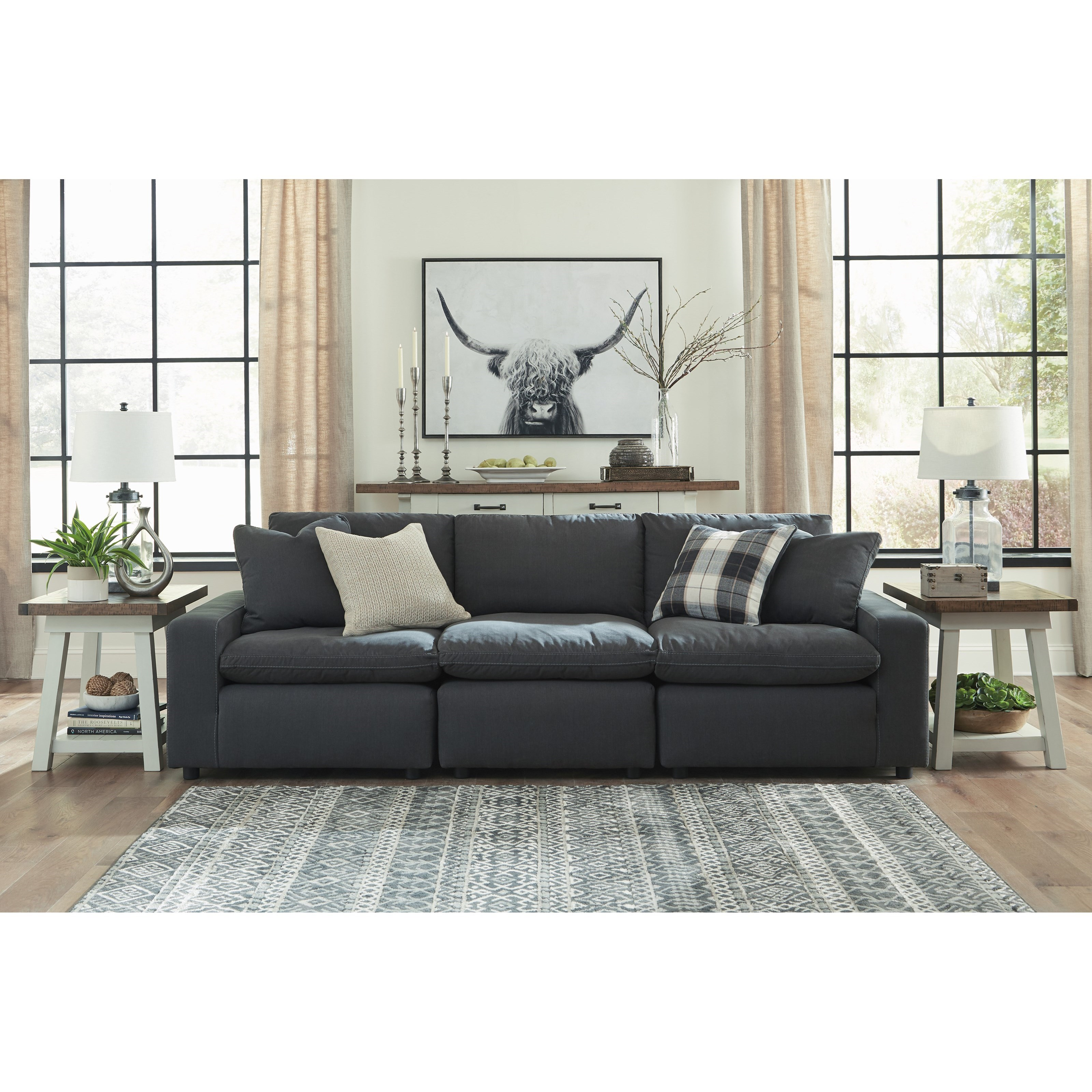 Ashley Furniture Manufacturer: Signature Design By Ashley Savesto Casual Contemporary 3
