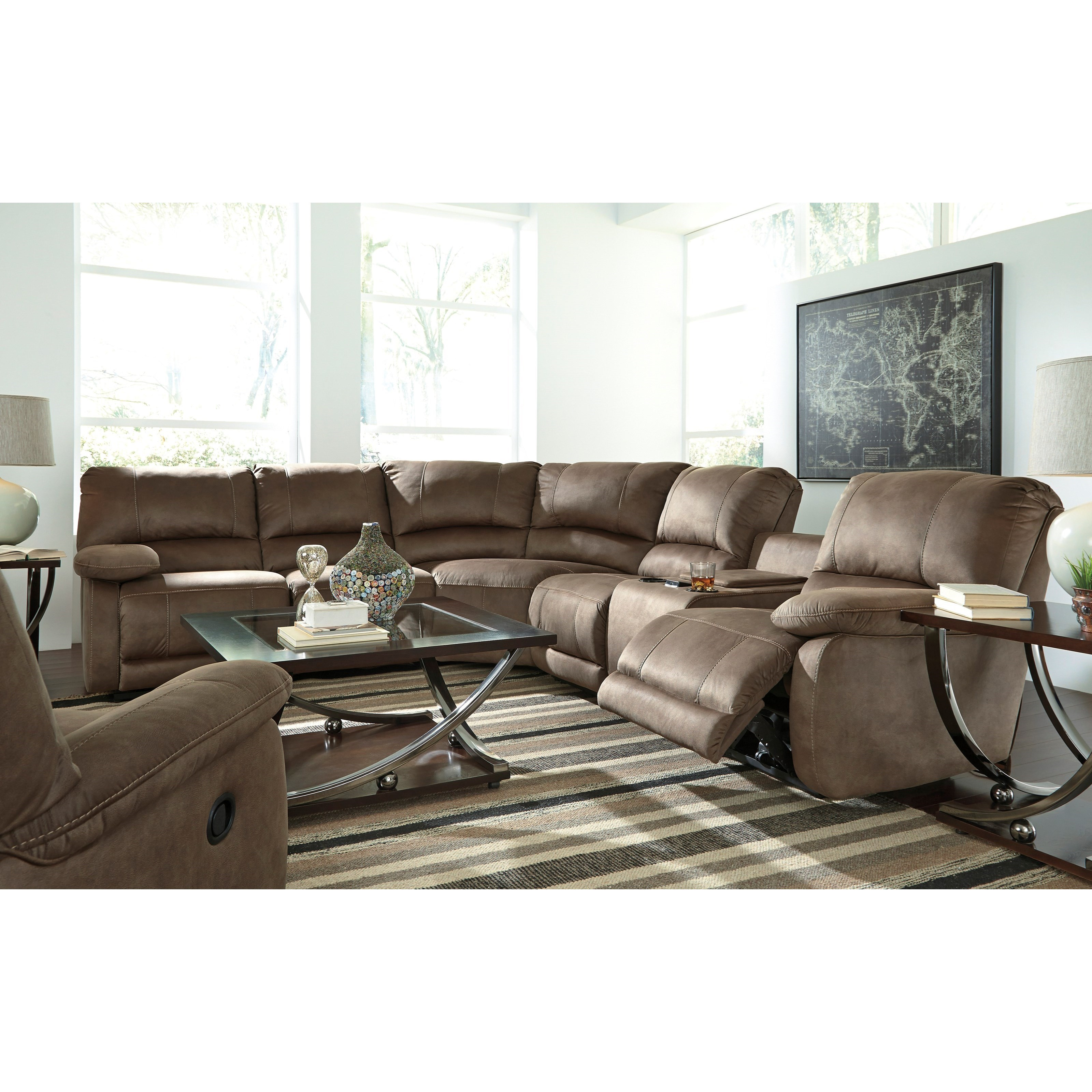Signature Design by Ashley Seamus Reclining Living Room Group - Item Number: 41800 Living Room Group 1
