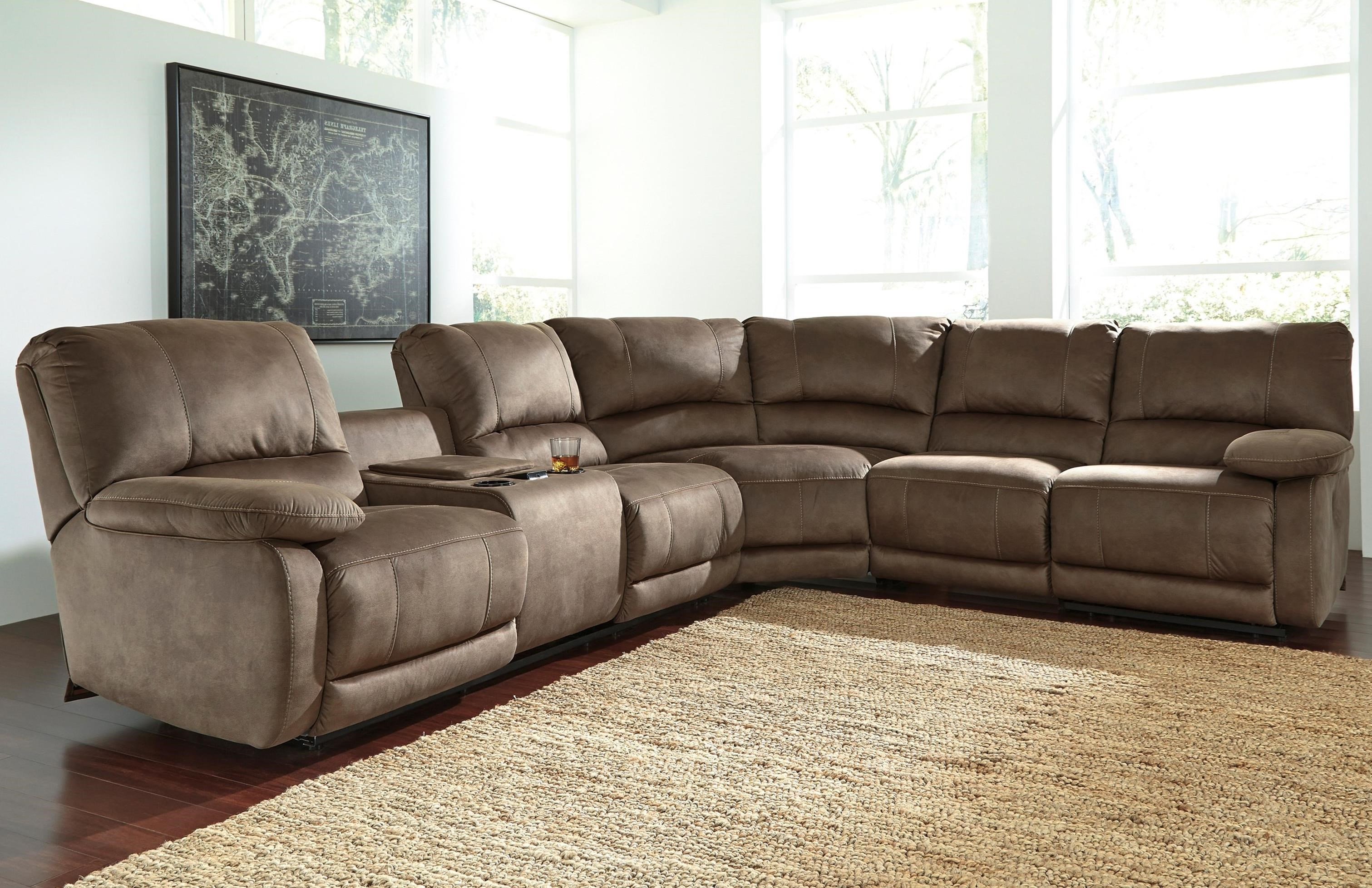 Signature Design by Ashley Seamus Power Reclining Sectional with Massage - Item Number: 4180001+77+46+62