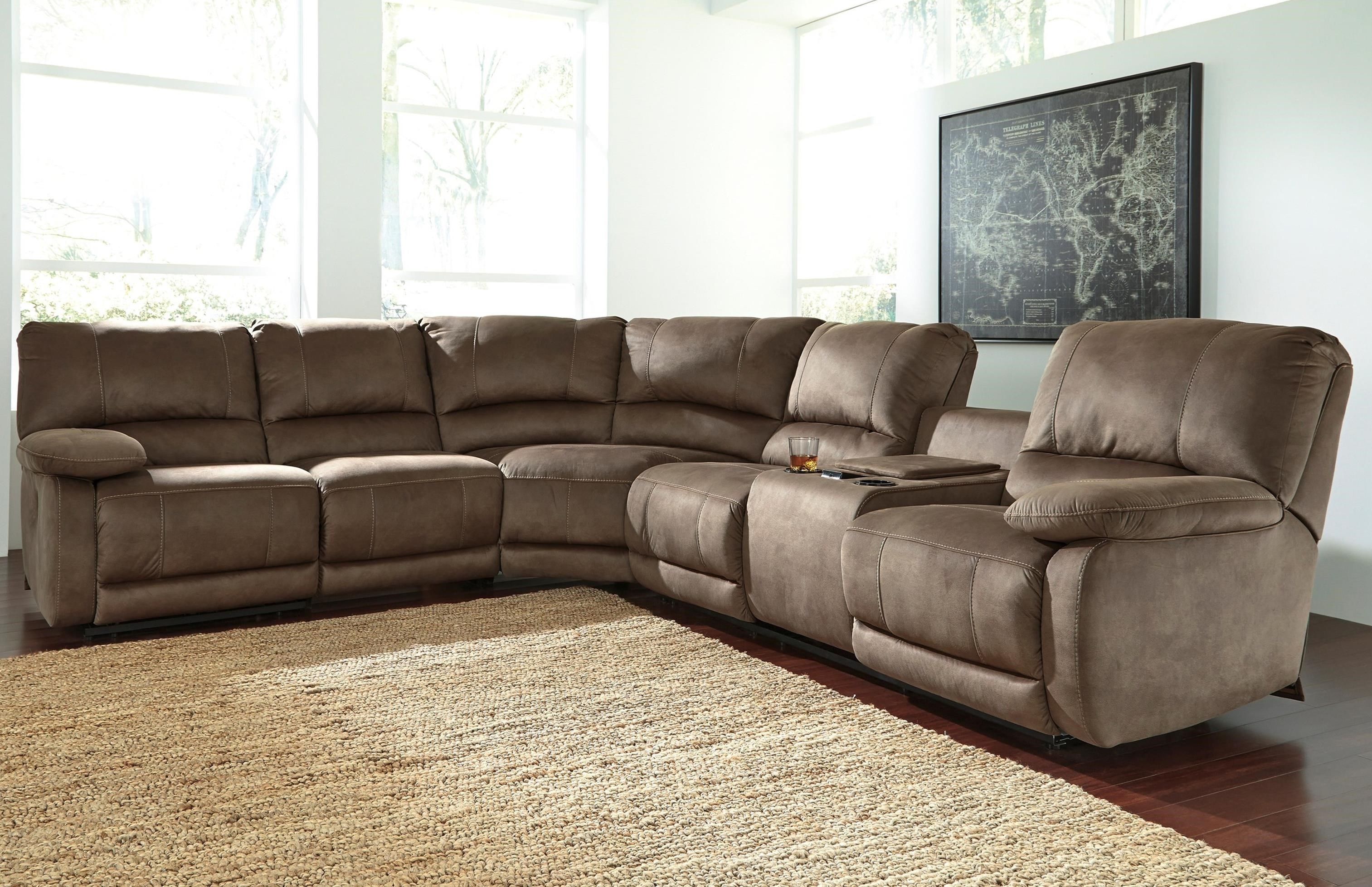 Signature Design By Ashley Seamus Power Reclining Sectional With Massage Pedigo Furniture