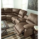 Signature Design by Ashley Seamus Power Reclining Sectional with Massage