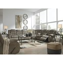 Signature Design by Ashley McCade Reclining Living Room Group - Item Number: 10104 Living Room Group 3