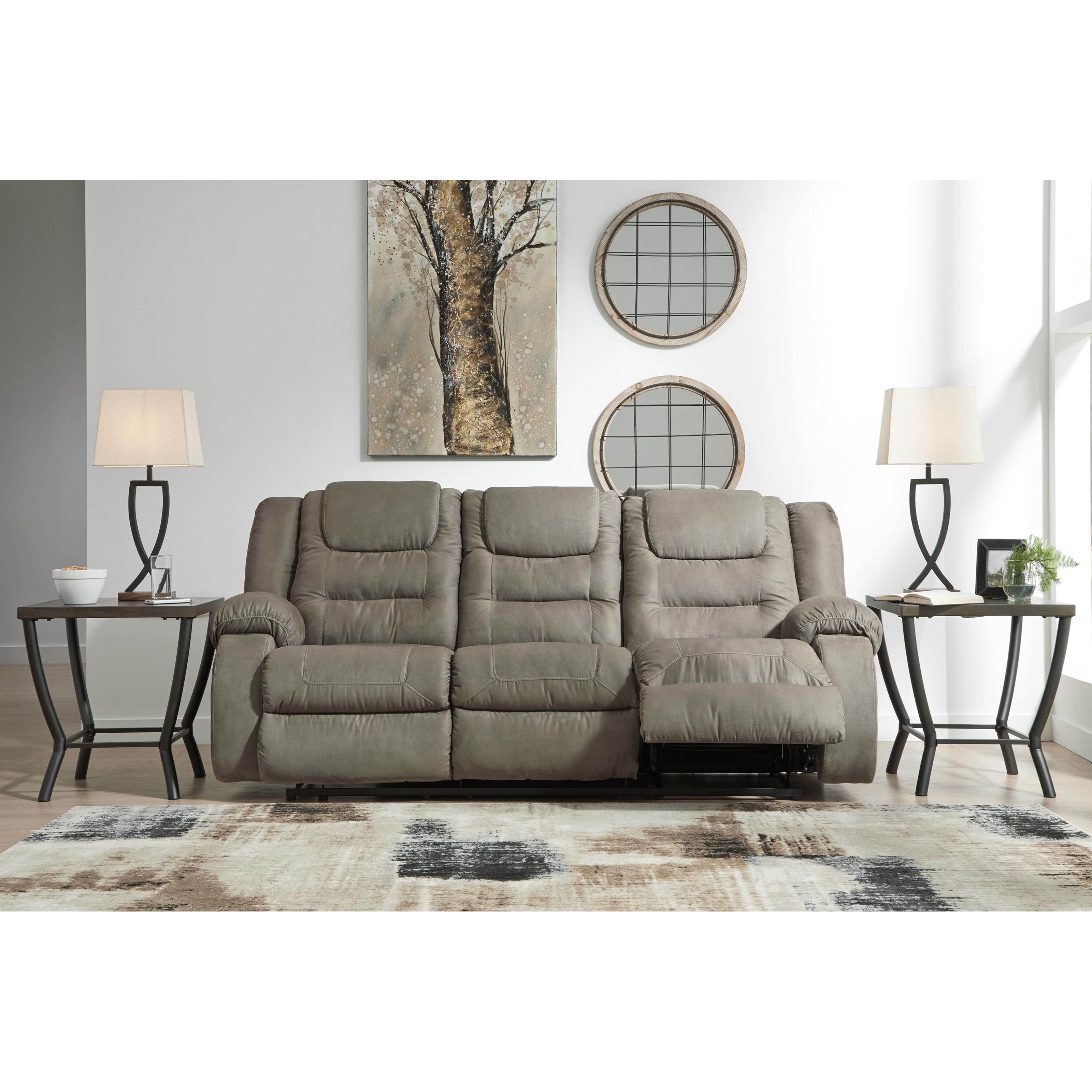 Signature Design By Ashley Segburg Casual Reclining Sofa