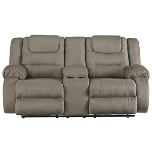 Signature Design by Ashley Segburg Double Reclining Loveseat with Console