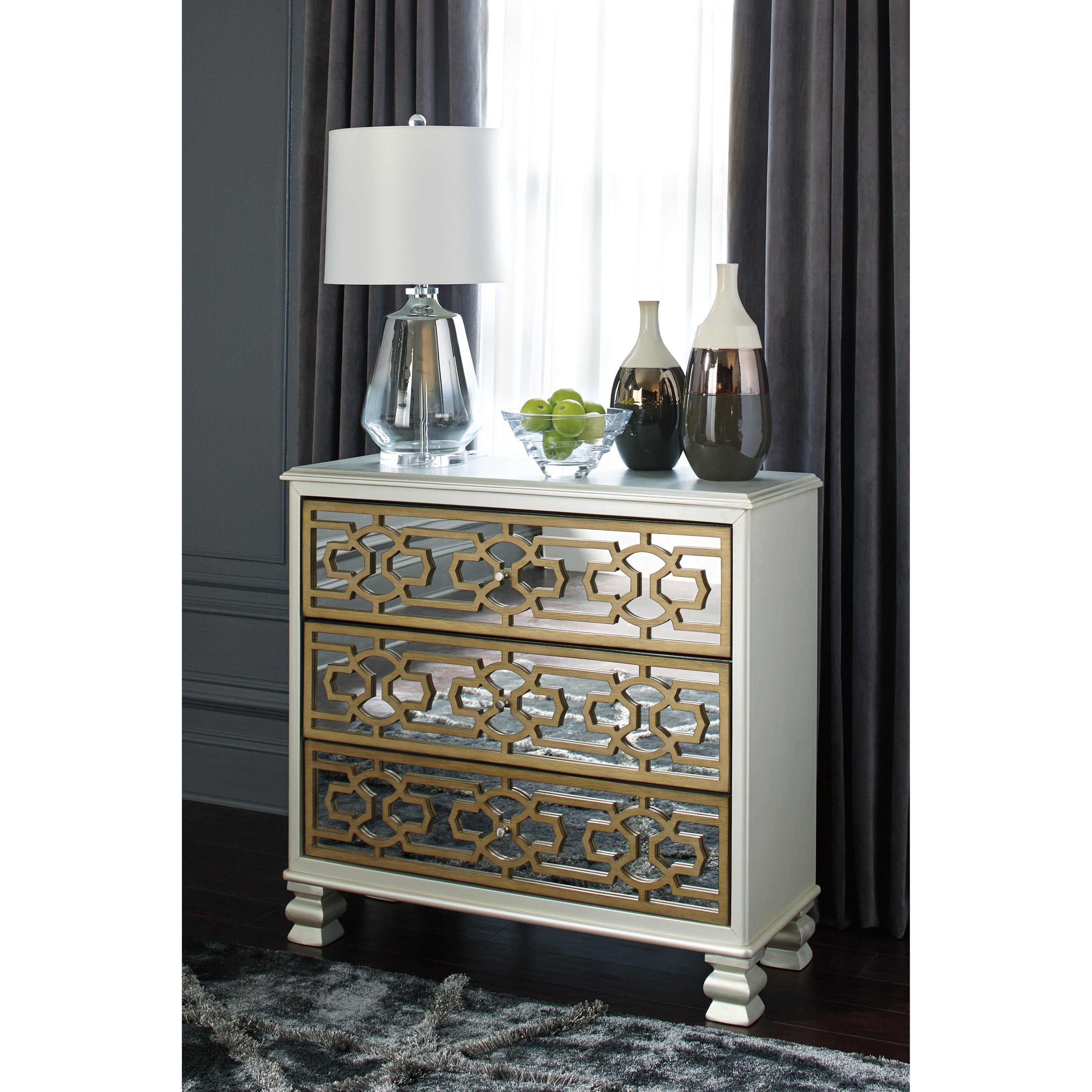 Signature Design By Ashley Senzernell A4000068 3 Drawer