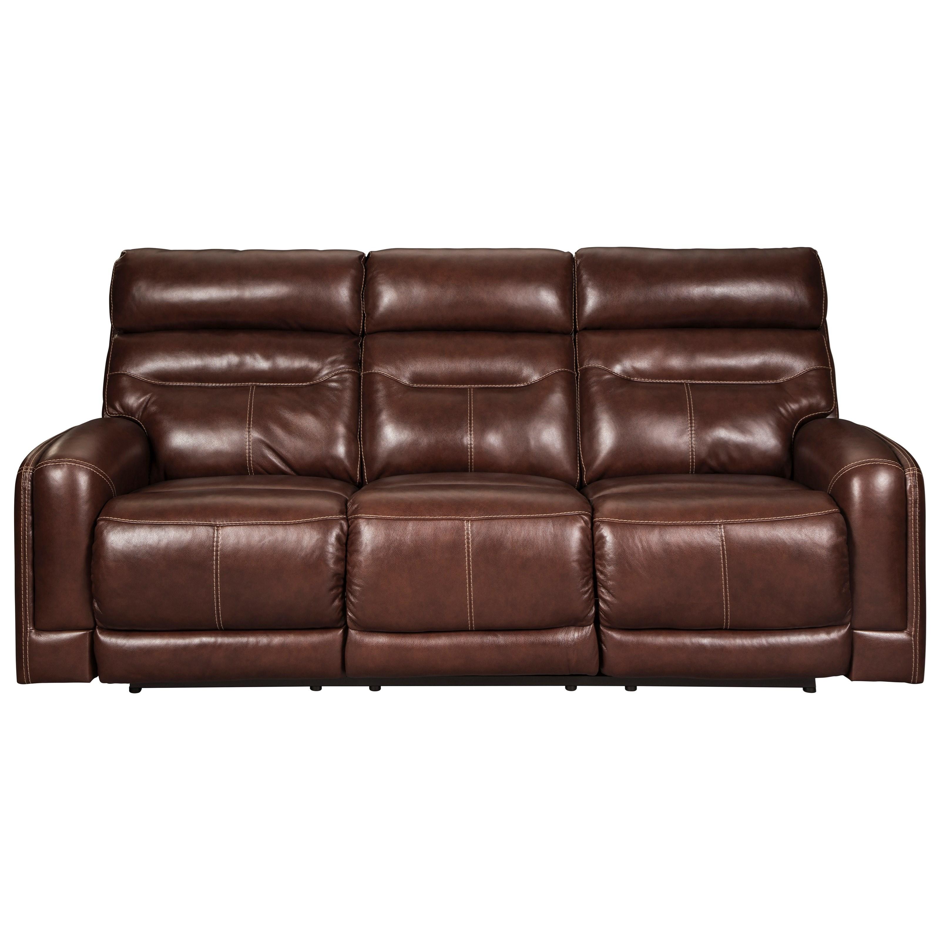 Power Reclining Sofa w/ Adjustable Headrests