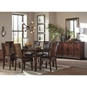 Signature Design by Ashley Shadyn Rectangular Dining Room Extension Table Set