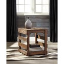 Signature Design by Ashley Shanlore Distressed Pine Rectangular End Table