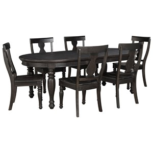 Signature Design by Ashley Sharlowe 7-Piece Table Set