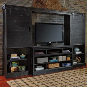 Signature Design by Ashley Sharlowe Large TV Stand with Bridge & Piers