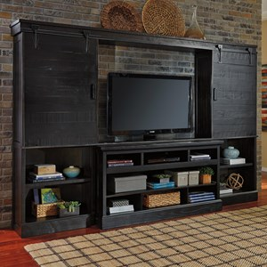 Ashley Signature Design Sharlowe Large TV Stand with Bridge & Piers