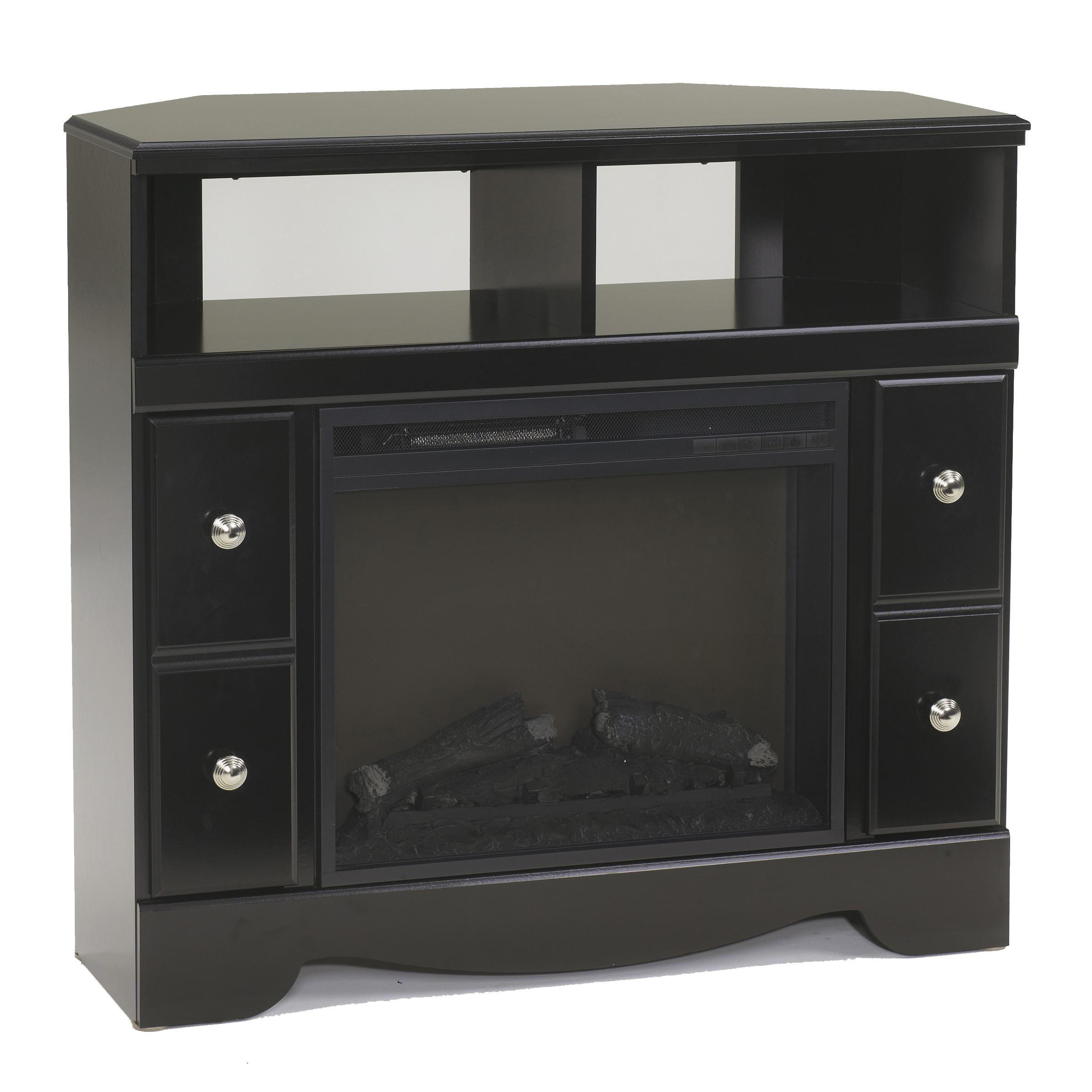 Signature Design by Ashley Shay Corner TV Stand/Fireplace  - Item Number: W271-12+W100-01