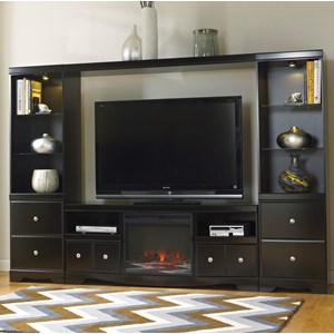 Signature Design by Ashley Shay Entertainment Wall Unit w/ Fireplace
