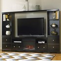 Signature Design by Ashley Shay Entertainment Wall Unit w/ Fireplace - Item Number: W271-68+W100-01+W271-27+2x24