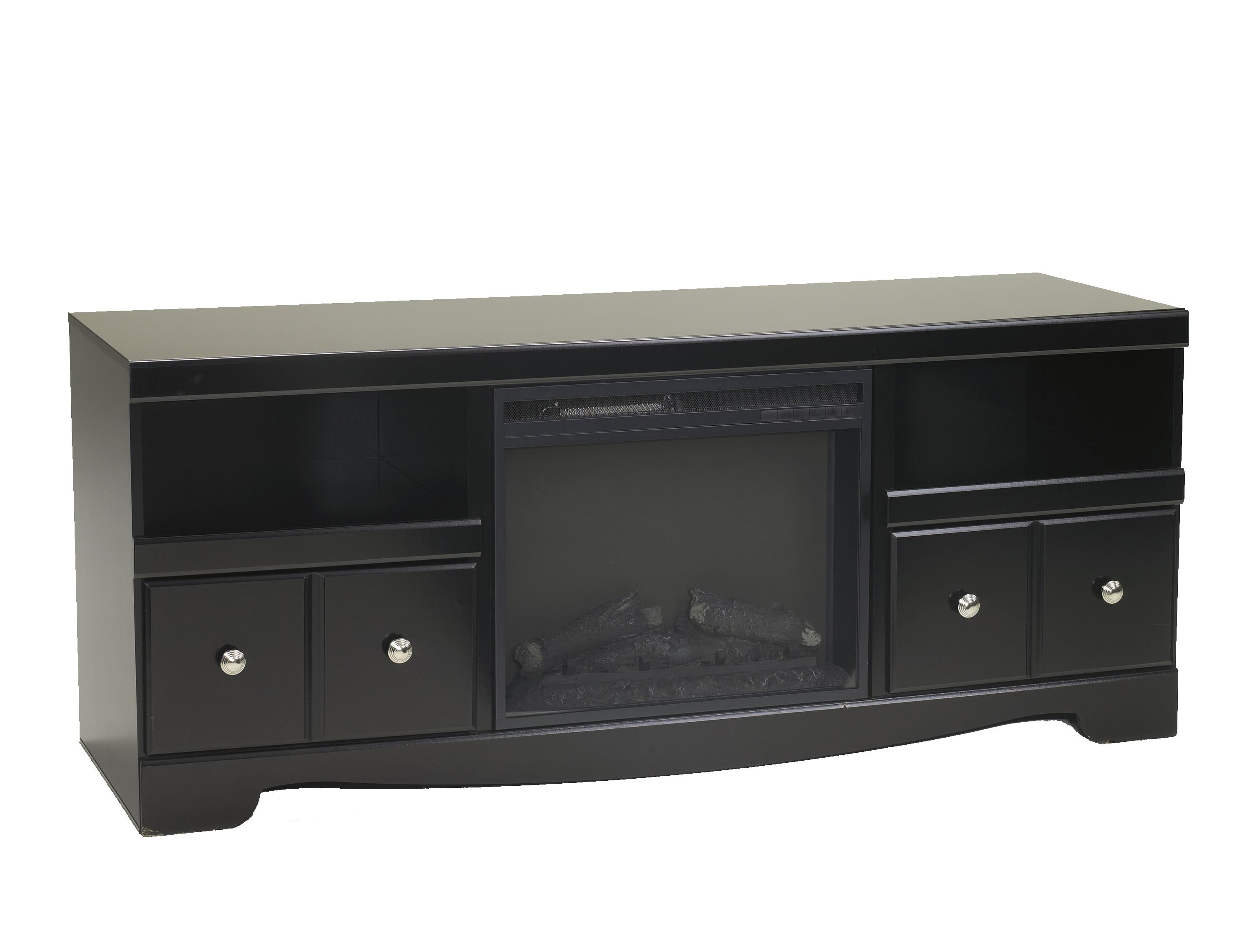 Signature Design by Ashley Shay Large TV Stand with Fireplace - Item Number: W271-68+W100-01