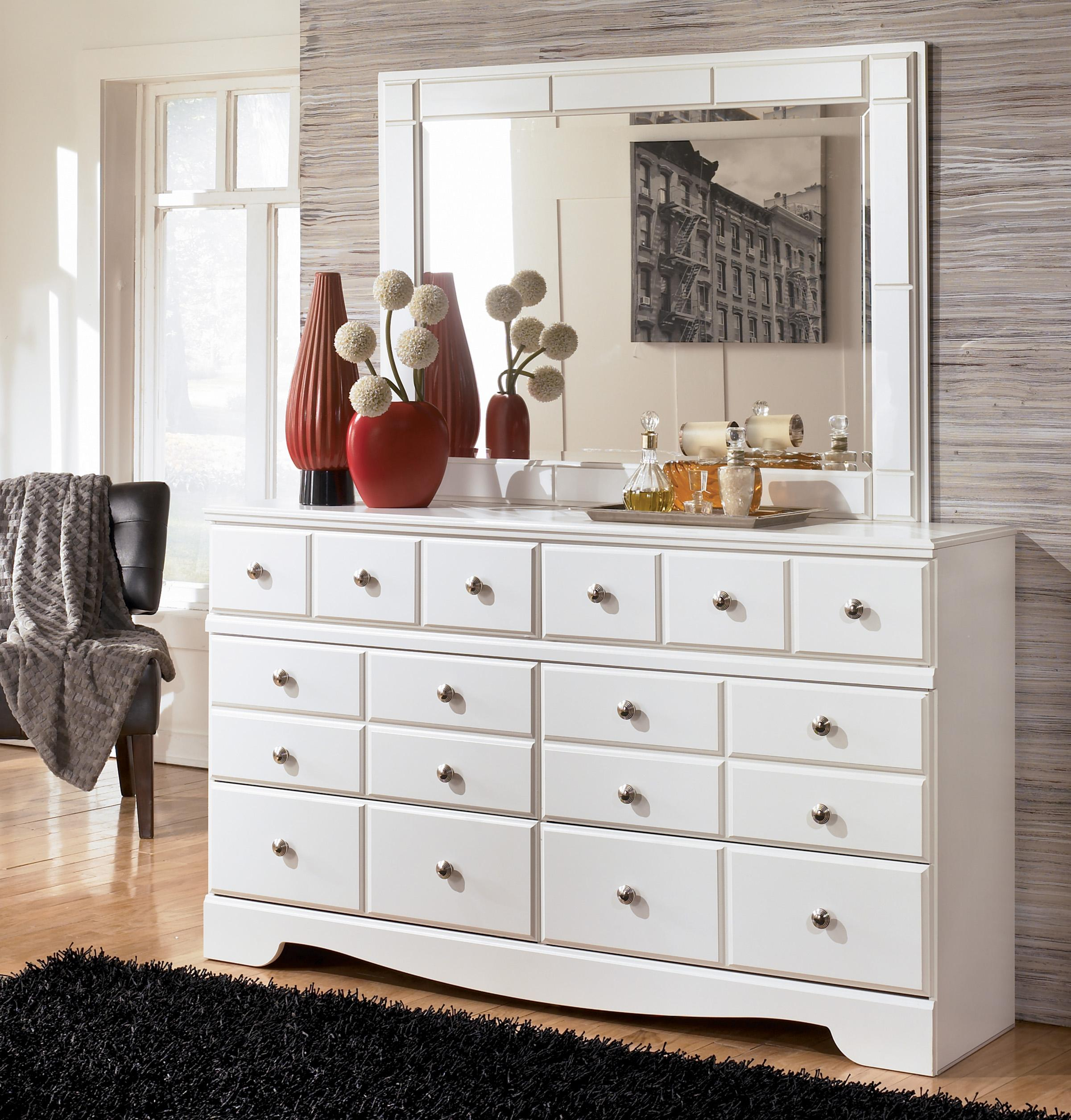 Signature Design by Ashley Weeki Contemporary 6 Drawer Dresser and