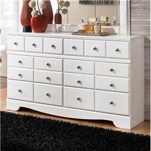 Signature Design by Ashley Weeki 6 Drawer Dresser