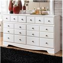 Signature Design by Ashley Weeki 6 Drawer Dresser - Item Number: B270-31