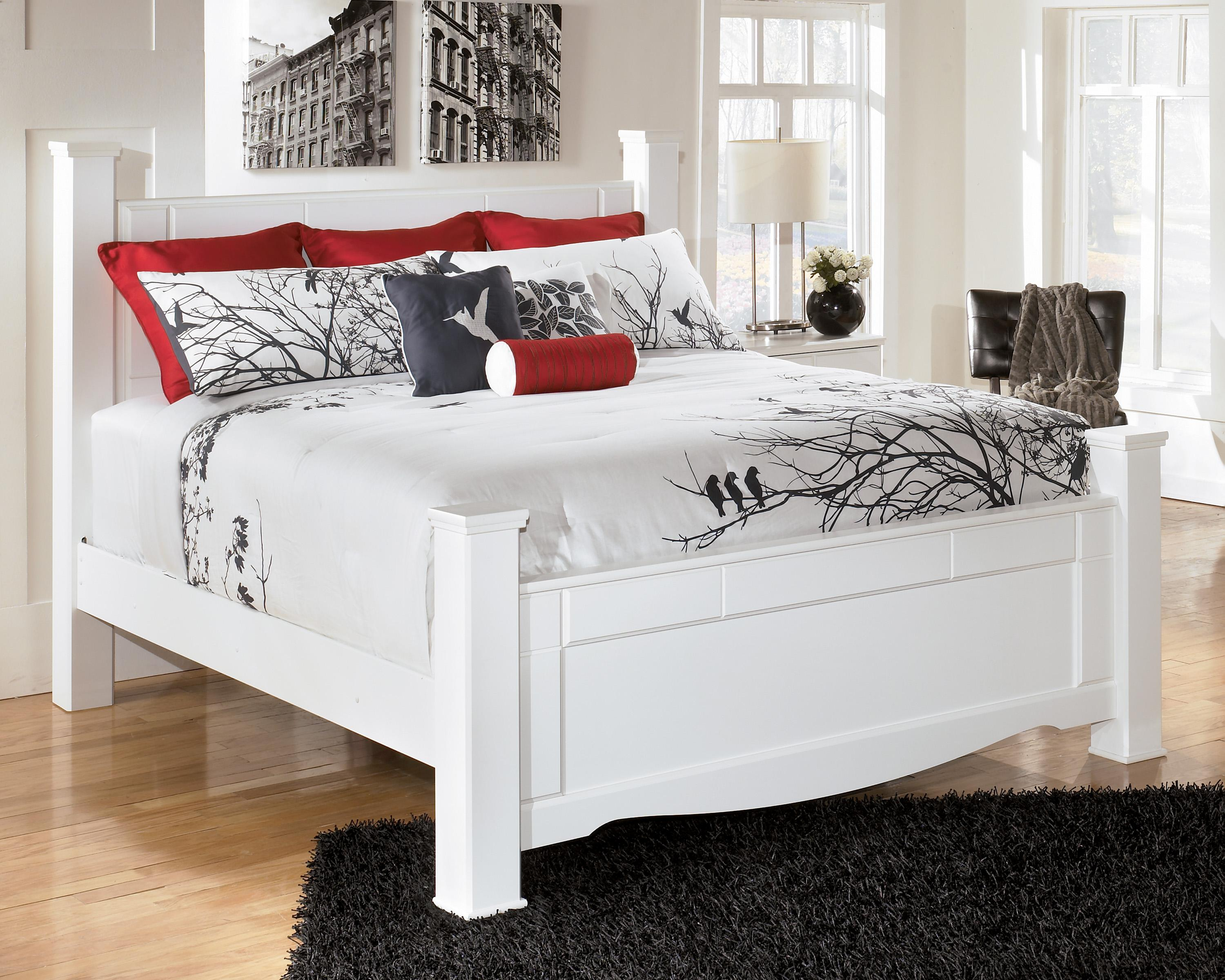 Signature Design by Ashley Weeki King Poster Bed - Item Number: B270-68+61+66+99