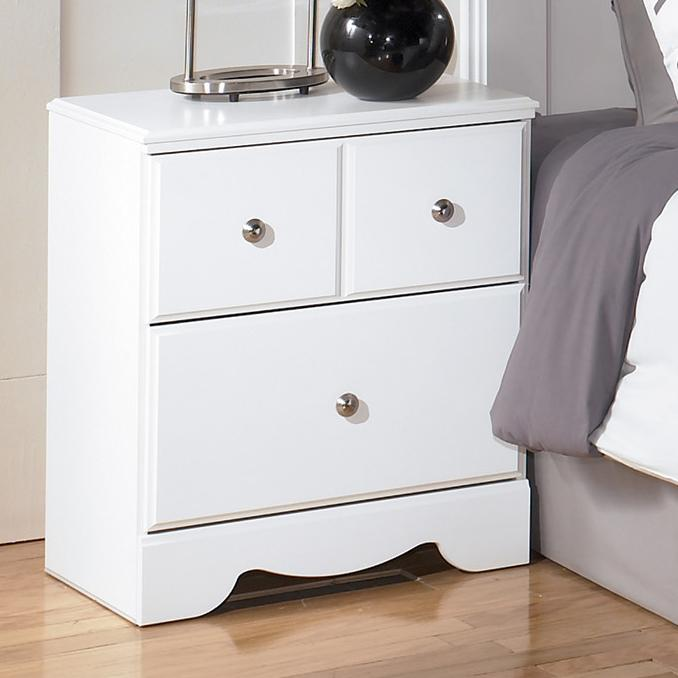 Signature Design by Ashley Weeki 2 Drawer Nightstand - Item Number: B270-92