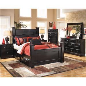 4 Piece Queen Storage Bedroom Set