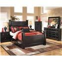 Signature Design by Ashley Shane 4 Piece Queen Storage Bedroom Set - Item Number: B271-KB+31+36+92
