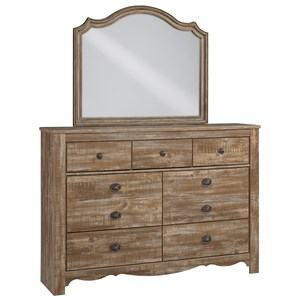 Signature Design by Ashley Shellington Dresser and Mirror Set