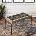 Signature Design by Ashley Shellmond Accent Cocktail Table with Lift Top Storage