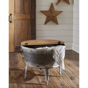 Signature Design by Ashley Shellmond Modern Rustic Storage Accent Cocktail Table with Lift Top