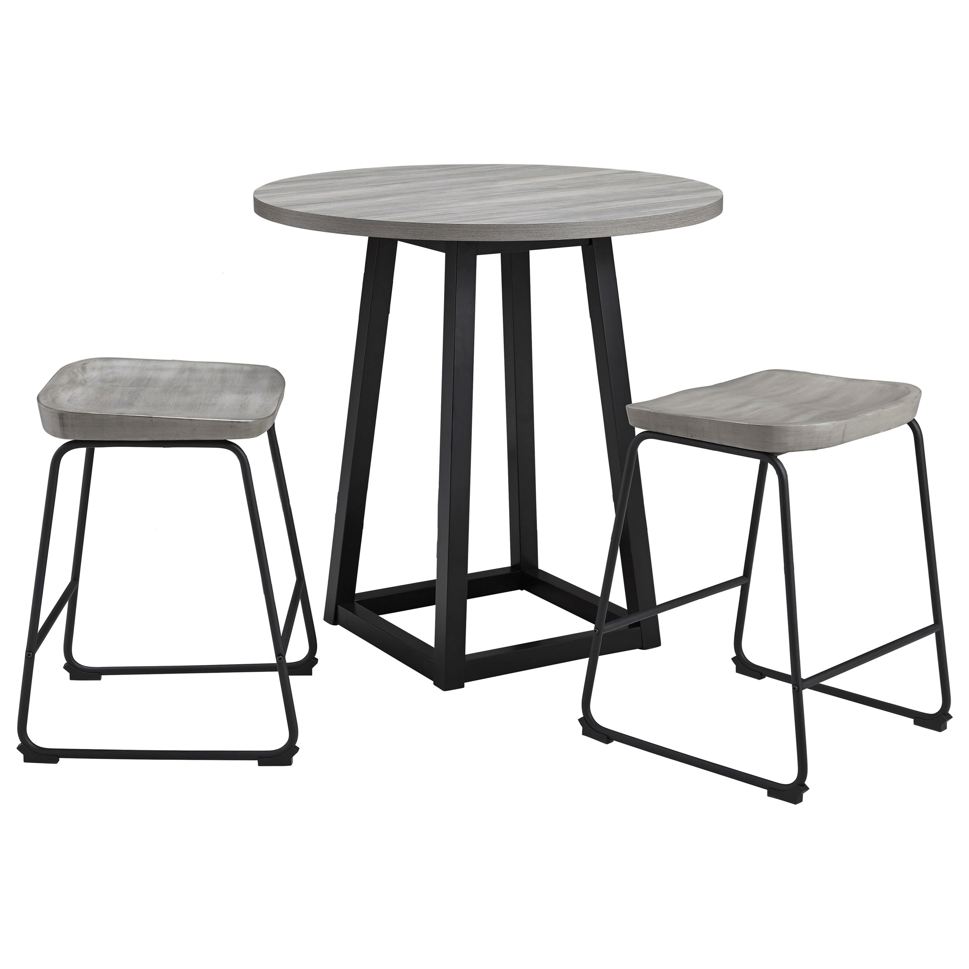 Signature Design By Ashley Showdell 3 Piece Counter Height Dining Table Set Royal Furniture Pub Table And Stool Sets