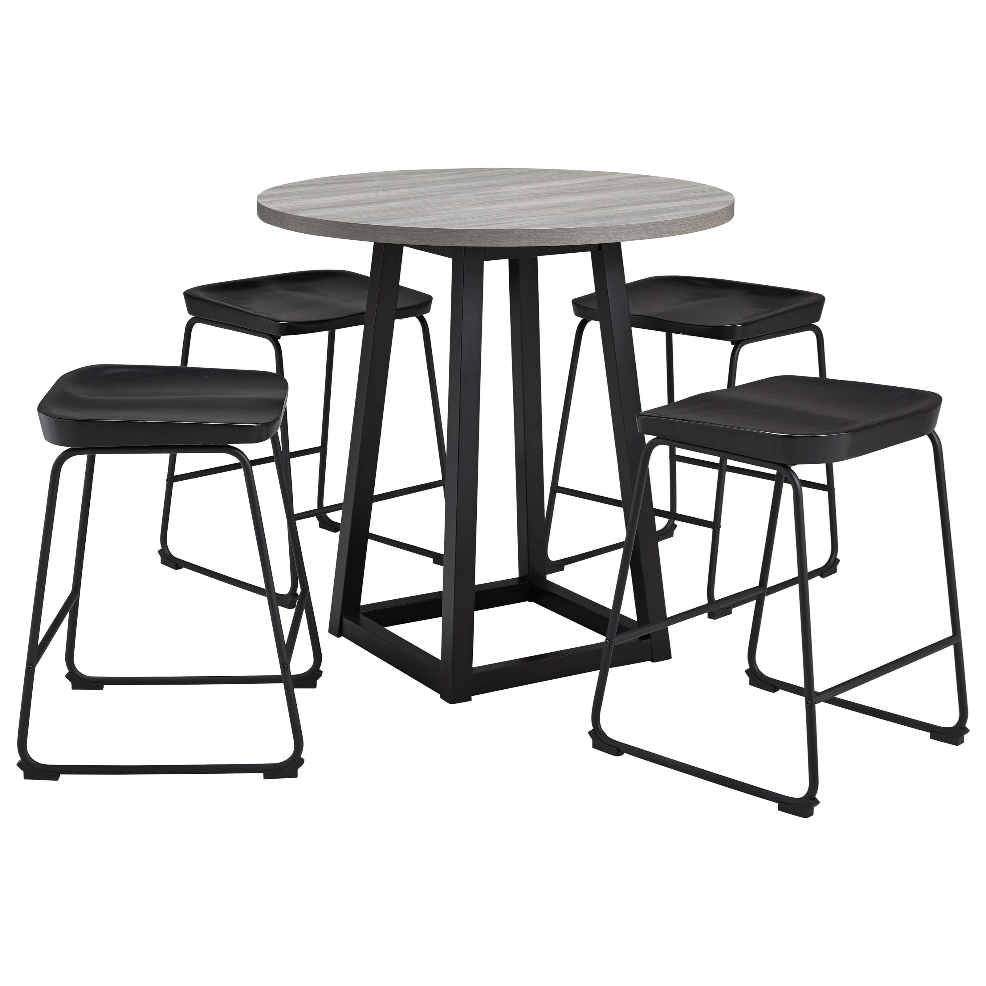 Signature Design By Ashley Showdell 5 Piece Counter Height Dining Table Set Conlin S Furniture Pub Table And Stool Sets