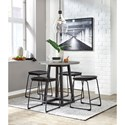 Signature Design by Ashley Showdell 5-Piece Counter Height Dining Table Set