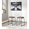 Signature Design by Ashley Showdell Counter Height Barstool with Sled Legs