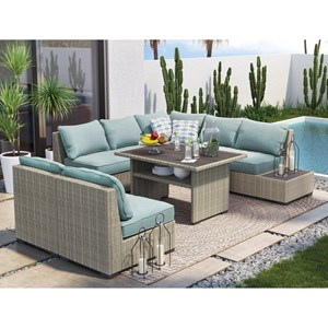 Signature Design by Ashley Silent Brook Outdoor Conversation Set