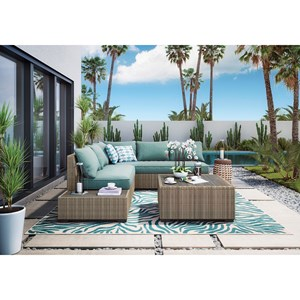 Signature Design by Ashley Silent Brook Outdoor Sectional Group