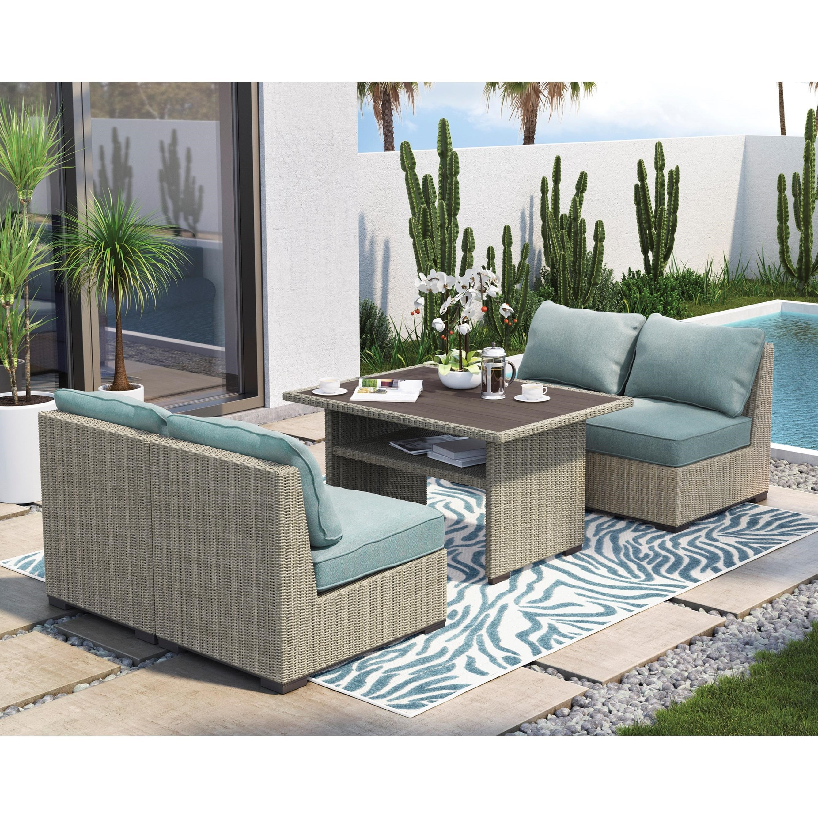 Superieur Signature Design By Ashley Silent Brook Outdoor Chat Set   Item Number:  P443 625