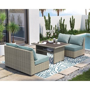 Signature Design by Ashley Silent Brook Outdoor Chat Set