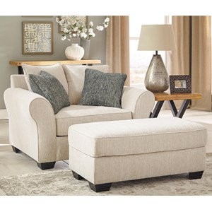 Ashley Silsbee Chair and a Half & Ottoman
