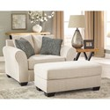 Benchcraft Silsbee Chair and a Half w/ Large Rolled Arms & Reversible UltraPlush Seat Cushion
