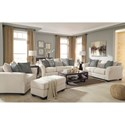 Ashley Silsbee Loveseat w/ Large Rolled Arms & Reversible UltraPlush Seat Cushions