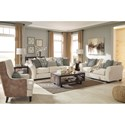 Ashley Silsbee Sofa w/ Large Rolled Arms & Reversible UltraPlush Seat Cushions