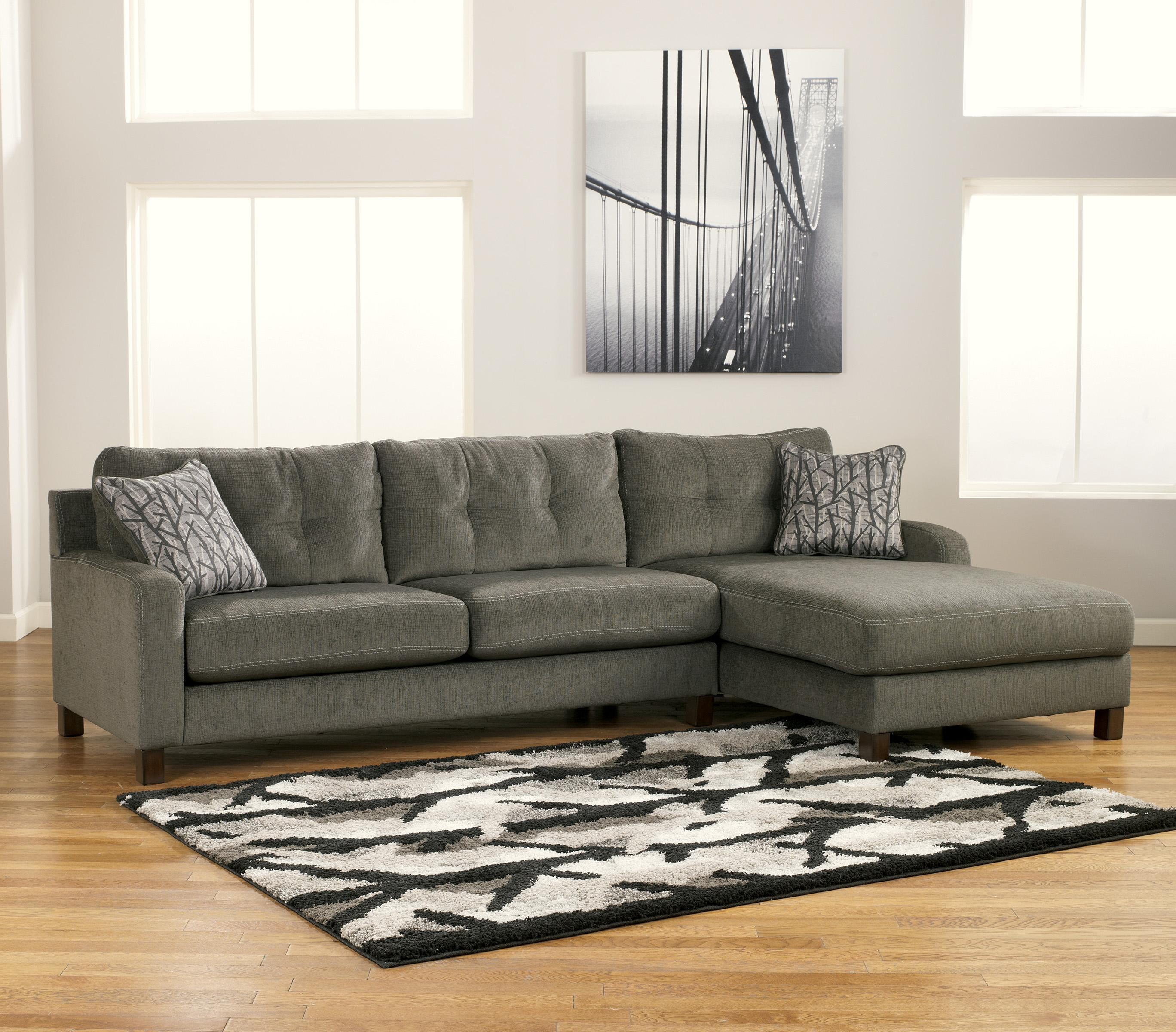 Siroun Steel Contemporary 2 Piece Sectional With Right Chaise By Signature Design Ashley