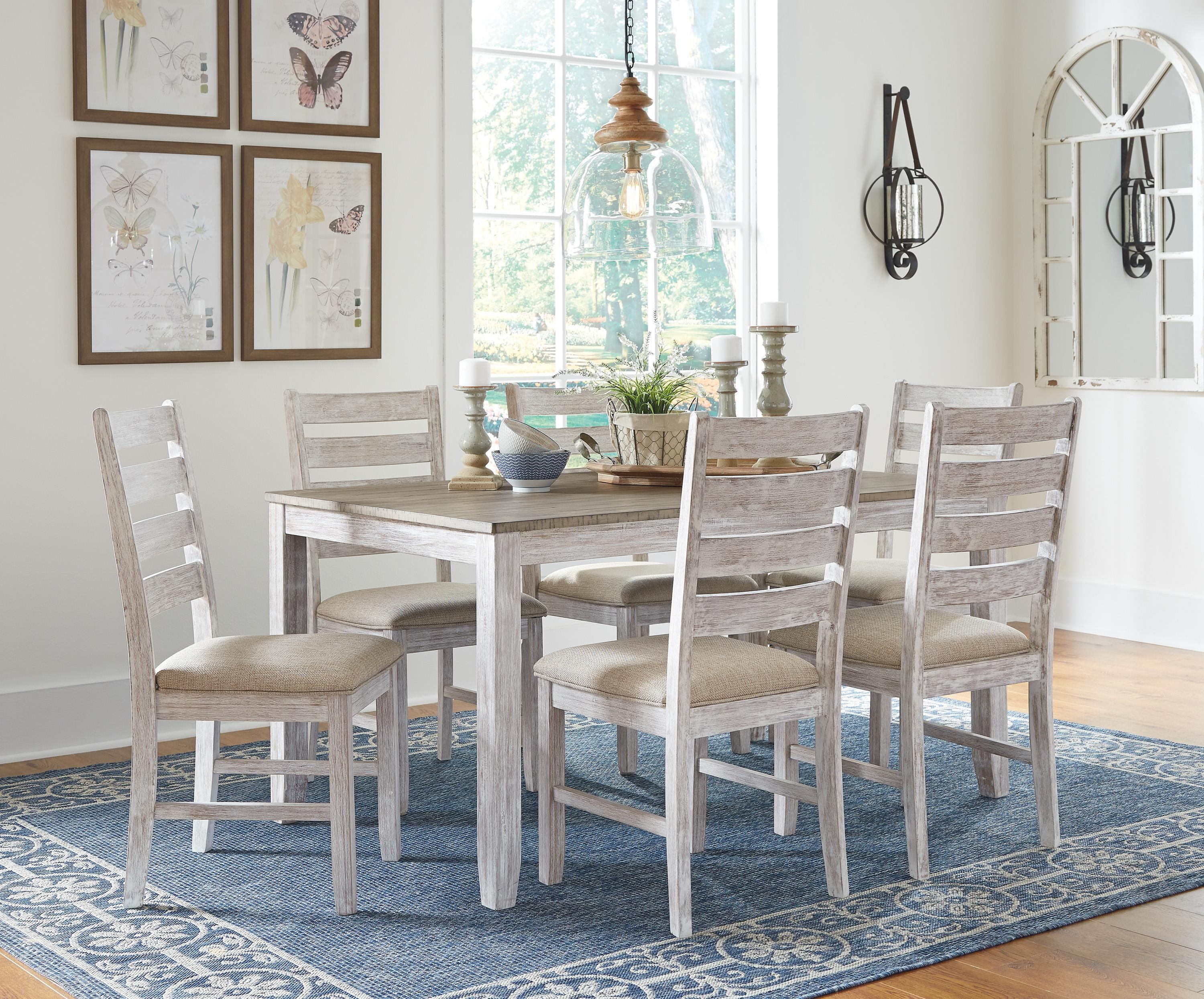Skempton Skempton 7-Piece Dining Table Set by Ashley at Morris Home