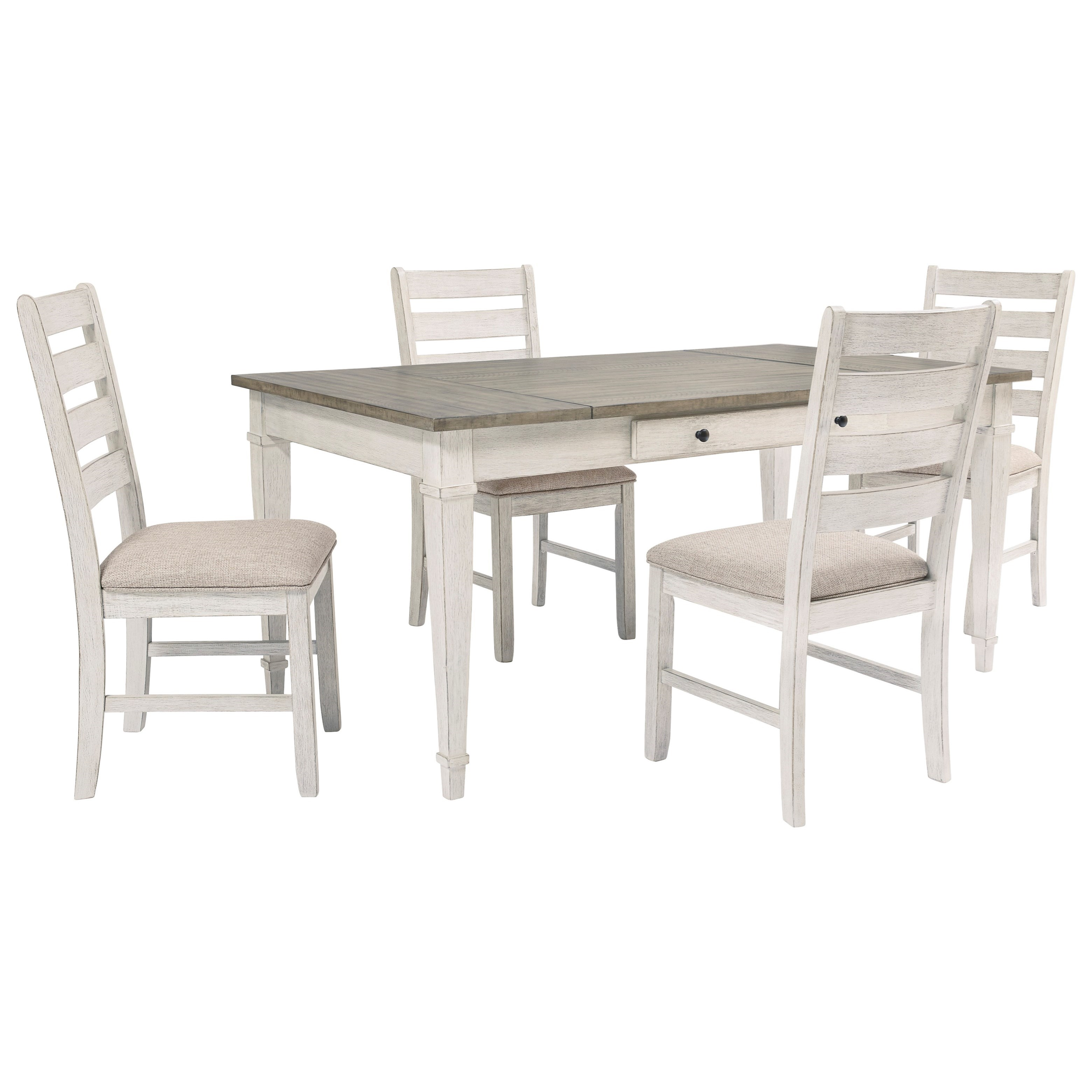 Signature Design By Ashley Skempton D394 25 4x01 5 Piece Rect Dining Room Table W Storage Furniture And Appliancemart Dining 5 Piece Sets